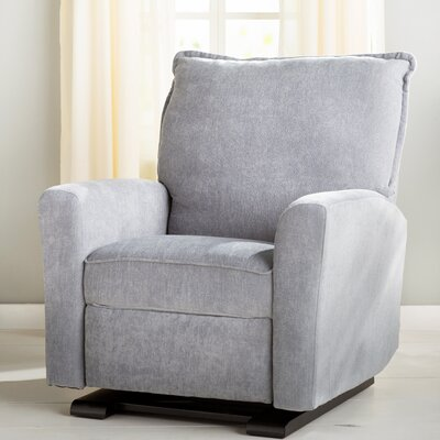 Suzette Gliding Recliner Upholstery Color: Gray