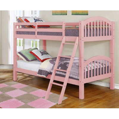 Cheap Jacey Twin over Twin Bunk Bed Finish Pink for sale
