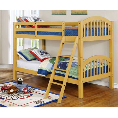 Susie Twin over Twin Bunk Bed Finish: Yellow