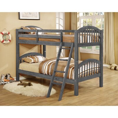 Jacey Twin over Twin Bunk Bed Finish: Charcoal Gray