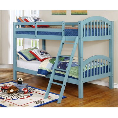 Jacey Twin over Twin Bunk Bed Finish: Seafoam Blue