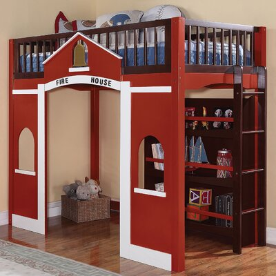 Hannah Loft Bed with Bookshelf