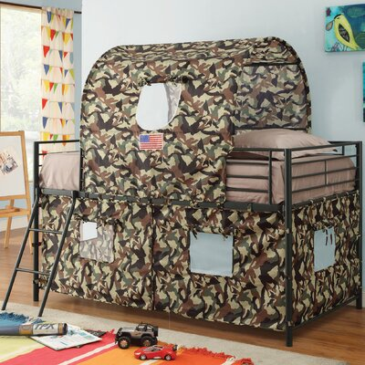 Nora Camouflage Tent Twin Bunk Bed