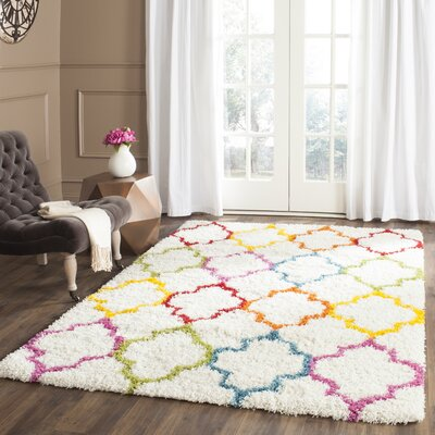 Madge Moroccan Ivory Area Rug Rug Size: Rectangle 86 x 12