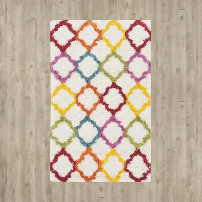 Madge Moroccan Ivory Area Rug Rug Size: Rectangle 3 x 5