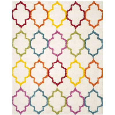 Madge Moroccan Ivory Area Rug Rug Size: Rectangle 8 x 10