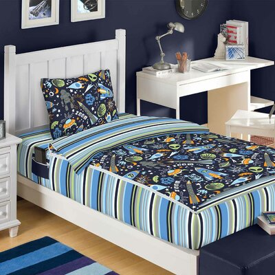 Audrey Outer Space Reversible Bed-In-A-Bag Set Size: Full
