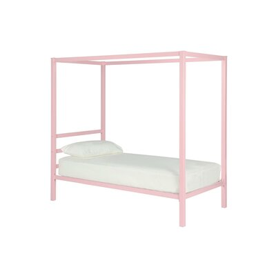 Melissa Canopy Bed Size: Twin, Finish: Pink