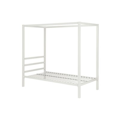 Melissa Canopy Bed Size: Twin, Color: White