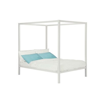 Melissa Canopy Bed Size: Full, Color: White