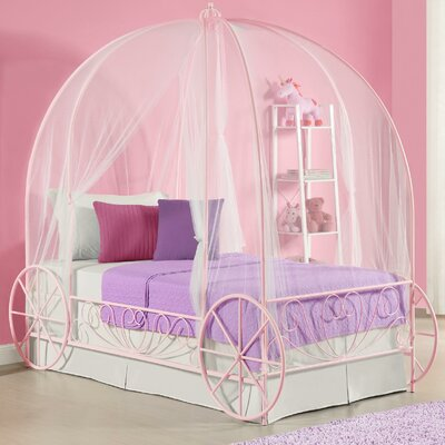 Brandy Twin Canopy Bed Color: Pink