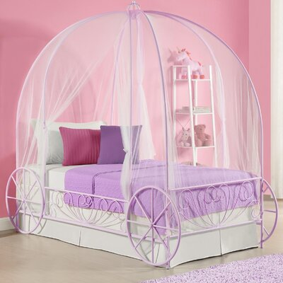 Brandy Twin Canopy Bed Color: Purple