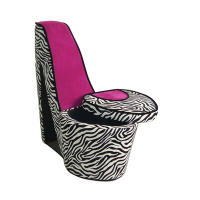 Brittany High Heels Storage Side Chair Color: Pink