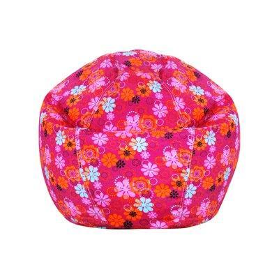 Pink Polyester Bean Bag Chair
