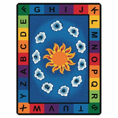 Camila Sunny Day Learn and Play Kids Area Rug Rug Size: Oval 45 x 510