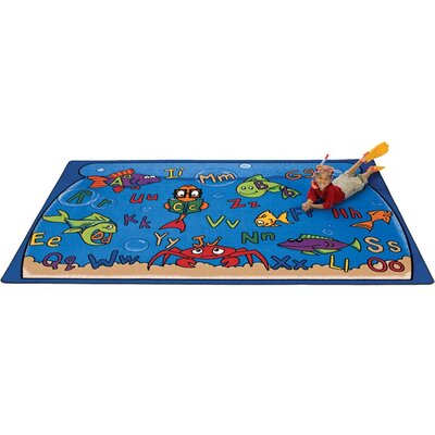 Camila Alphabet Aquarium Kids Rug Rug Size: 84 x 118