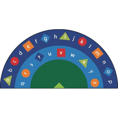 Camila Alpha Semi-Circle Alphabet Seating Kids Rug Rug Size: 68 x 134