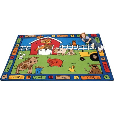 Camila Alphabet Farm Kids Rug Rug Size: 45 x 510