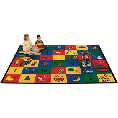 Camila Blocks of Fun Kids Area Rug Rug Size: 41 x 510