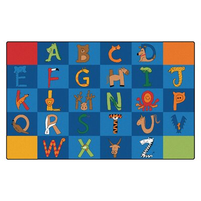 Camila A to Z Animals Kids Rug Rug Size: 84 x 134
