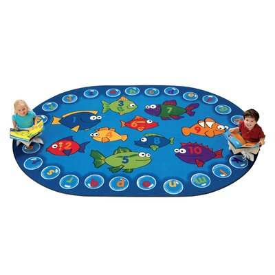 Camila Fishing Kids Area Rug Rug Size: Oval 310 x 55