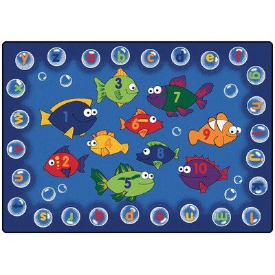 Camila Fishing Kids Area Rug Rug Size: Oval 8 x 12