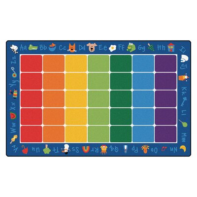 Camila Fun with Phonics Semi-Circle Kids Area Rug Rug Size: 84 x 134