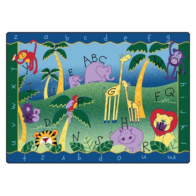 Camila Alphabet Jungle Kids Area Rug Rug Size: 45 x 510