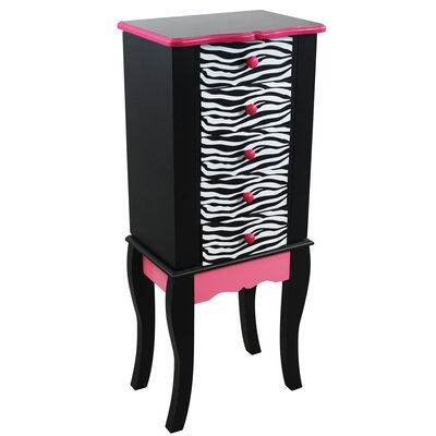 Fashion Prints Jewelry Armoire Finish: Black