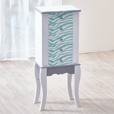 Fashion Prints Jewelry Armoire Finish: White