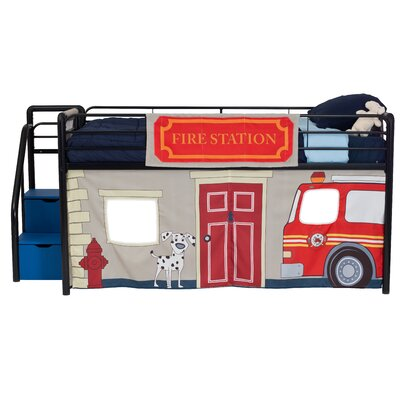 Catalina Fire Department Curtain Set for Junior Loft Bed