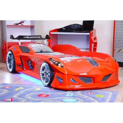 Lillian Speedy Boy Race Twin Car Bed Color: Red