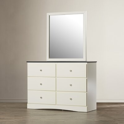 Cristina 6 Drawer Double Dresser with Mirror