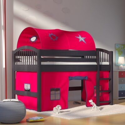 Abigail Twin Loft Bed Color: Espresso/Red