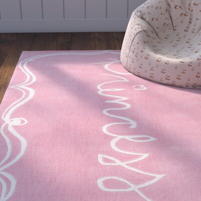 Cesar Hand-Tufted Pink/Neutral Area Rug Rug Size: 5 x 76