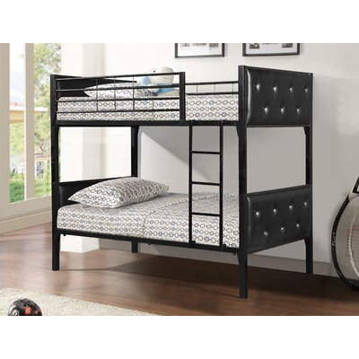 Aria Twin Bunk Bed Finish: Black