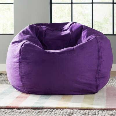 Bean Bag Chair Size: 28, Upholstery: Purple