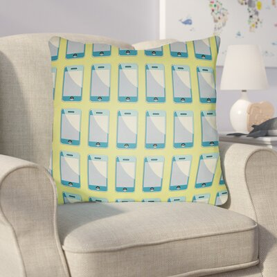 Cassidy Geometric Throw Pillow Size: 22 H �x 22 W x 5 D, Color: Chartreuse