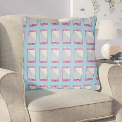 Cassidy Geometric Throw Pillow Size: 22 H �x 22 W x 5 D, Color: Robins Egg