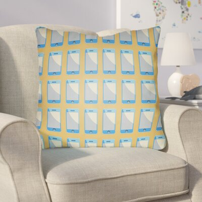 Cassidy Geometric Throw Pillow Size: 18 H x 18 W x 4 D, Color: Sherbert