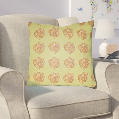 Cassidy Floral Throw Pillow Size: 22 H x 22 W x 5 D, Color: Yellow