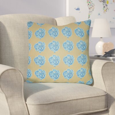 Cassidy Floral Throw Pillow Size: 18 H x 18 W x 4 D, Color: Sherbert