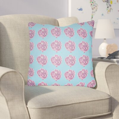 Cassidy Floral Throw Pillow Size: 18 H x 18 W x 4 D, Color: Blue