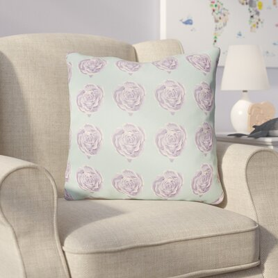 Cassidy Floral Throw Pillow Size: 22 H x 22 W x 5 D, Color: Mint