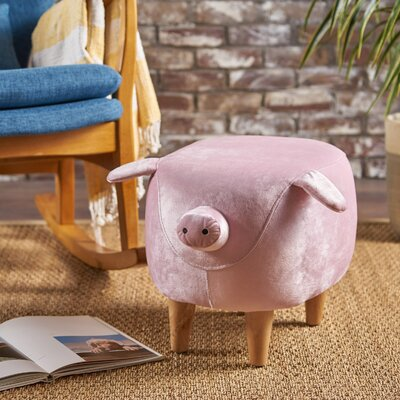 Esmond Pig Ottoman Upholstery: Pink