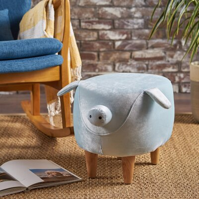 Esmond Pig Ottoman Upholstery: Light Blue