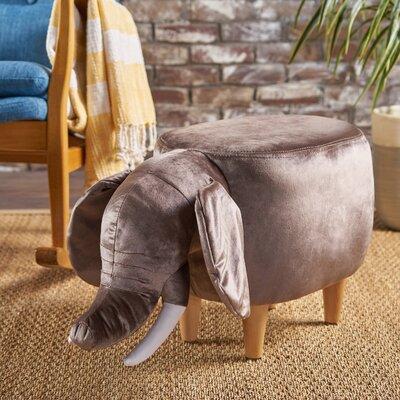Espenson Elephant Ottoman Upholstery: Dark Taupe