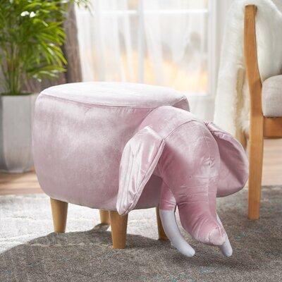 Espenson Elephant Ottoman Upholstery: Pink