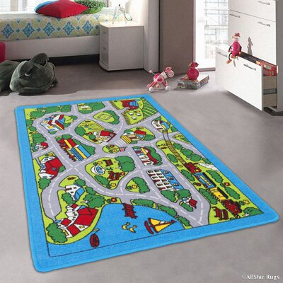Forest River Street Map Green/Grey Area Rug Rug Size: Rectangle 411 x 611