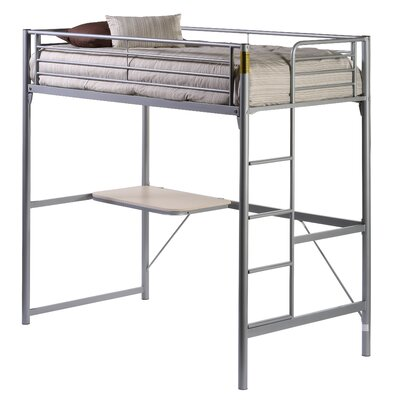 Harlow Twin over Twin Loft Bed Desk and Back Rails
